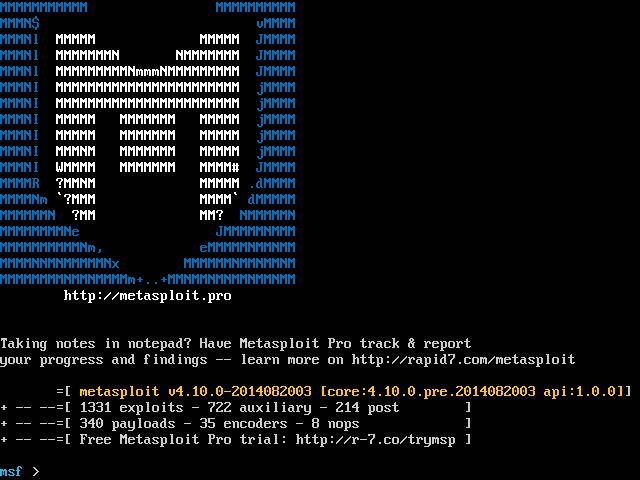熟悉metasploit之掌握常用命令